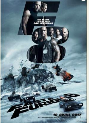 Affiche de fast and furious 8
