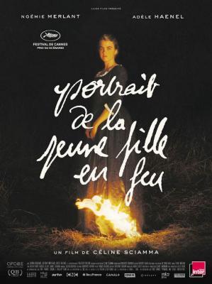 Affiche de jeune fille en feu