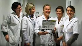 Irene frachon avec son equipe medicale