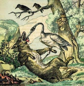 Le loup et la cigogne