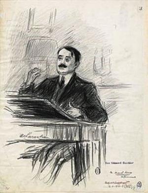 Marcel Prevost dessin de Paul Charles Delaroche