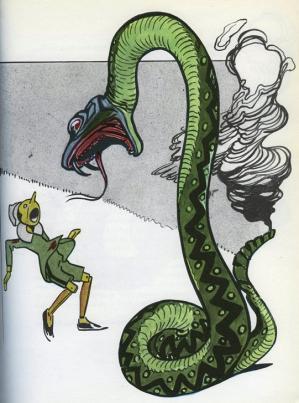Pinocchio et le serpent