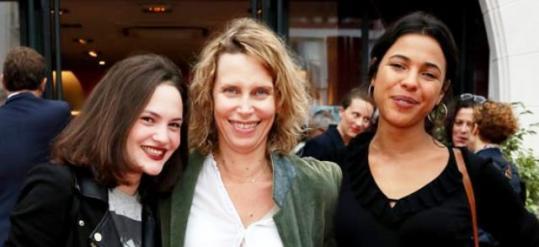 La réalisatrice et ses actrices