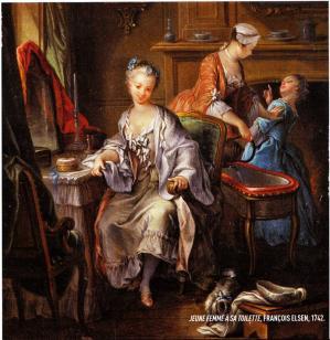 Toilette en 1700