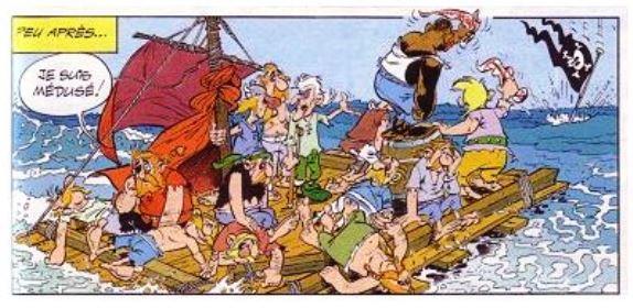 Asterix et le radeau