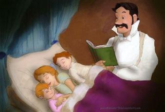 Georges Darling et ses enfants