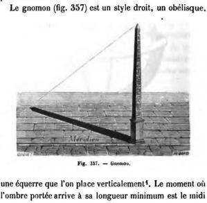 Gnomon l'obelisque