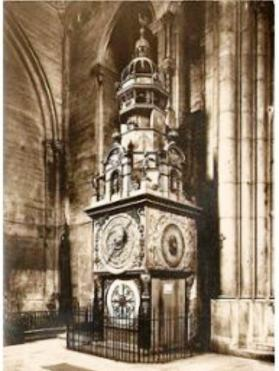 Horloge astronomique carte postale