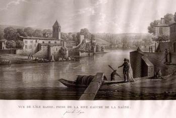 Ile-Barbe abbaye - tableau