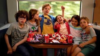Les enfants dans le train