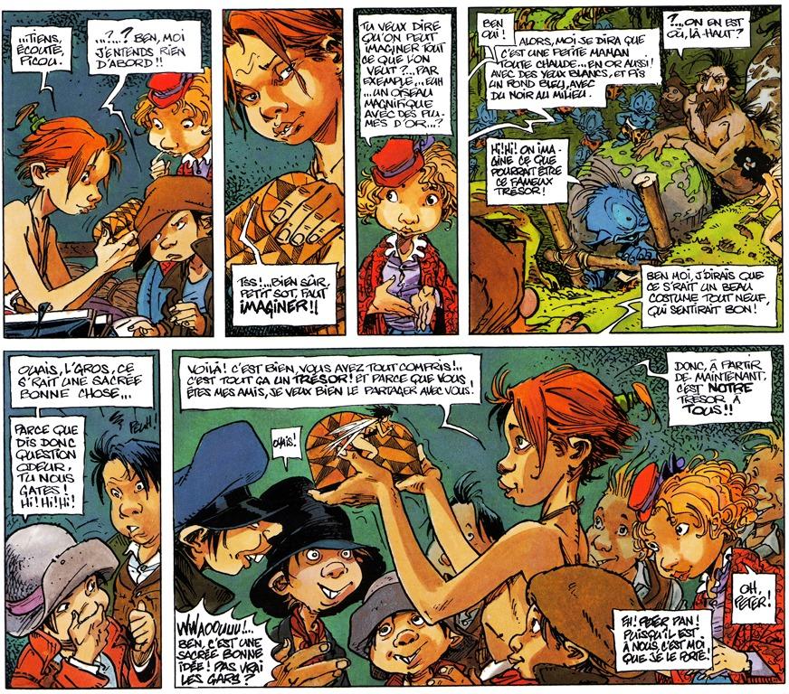 Peter Pan, textes, dessins et couleurs de Régis Loisel