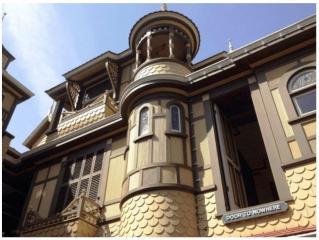 La maison maudite façade
