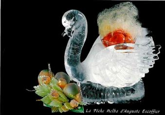 Pêche Melba - cygne