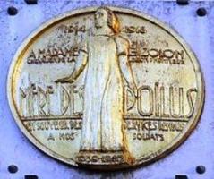 Plaque Clotilde Bizolon Mère des poilus